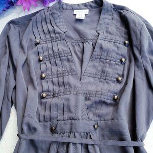 Motherhood maternity small gray blouse (p7)